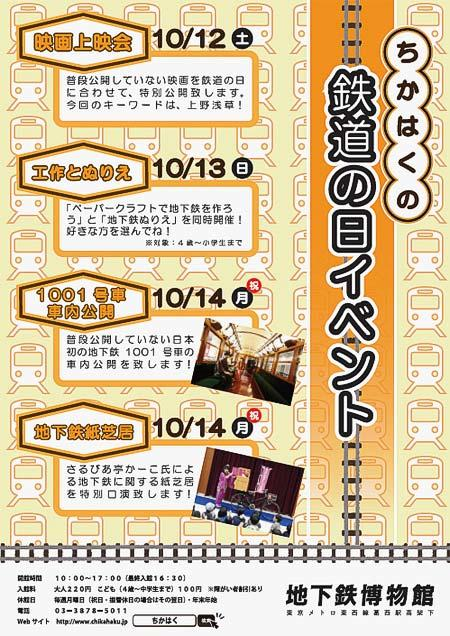 地下鉄博物館で「鉄道の日イベント」開催