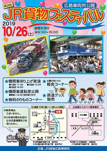 「第26回 JR貨物フェスティバル 広島車両所公開」開催
