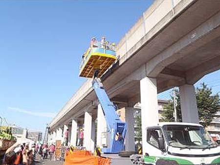 鷲宮保守基地で「新幹線工事用車両の特別公開」開催