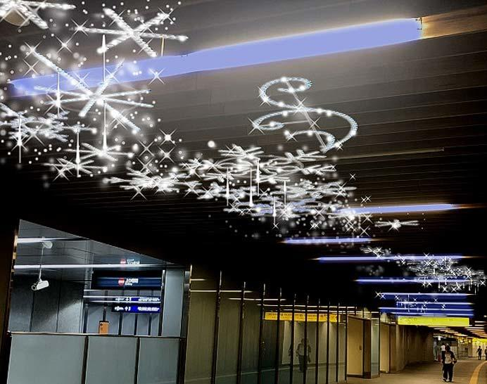 京阪,中之島駅・なにわ橋駅でウインターイルミネーション「フェスティバルステーション」などを実施