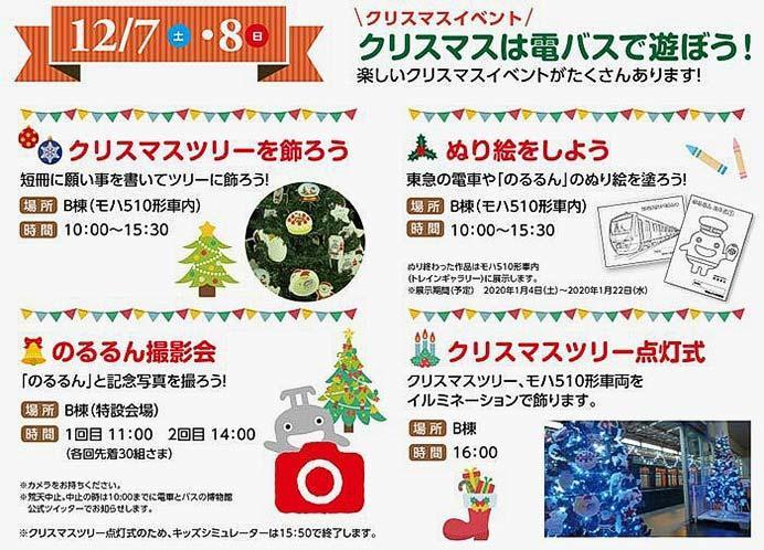 電車とバスの博物館で「クリスマスイベント」開催