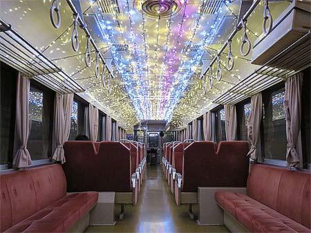 阿佐海岸鉄道で「イルミネーション列車」運転