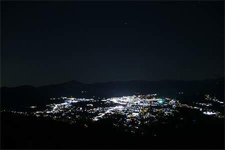 美の山公園展望台からの夜景