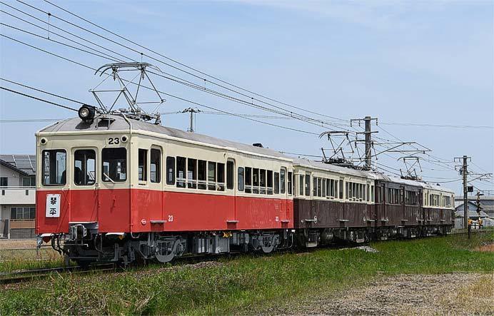 ことでん,レトロ電車の特別運行で4両運転を実施