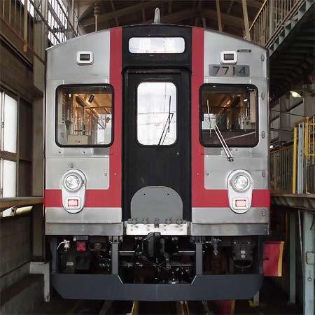 養老鉄道,7700系TQ14編成デビューにあわせて記念系統板を掲出