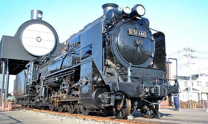 真岡鐵道,SLキューロク館で「D51 146号蒸気機関車の運転体験会」開催