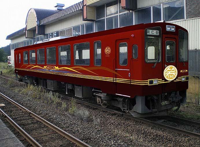 秋田内陸縦貫鉄道,新・観光列車「笑EMI」のお披露目会・試乗会を開催