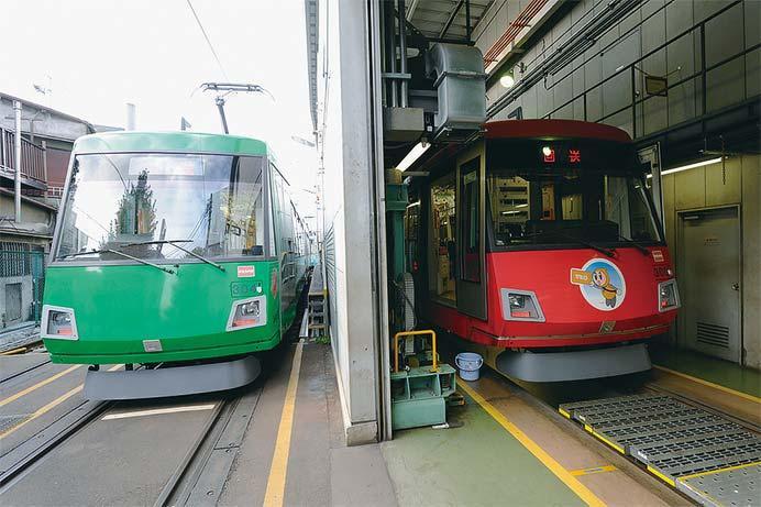 上町駅の世田谷線車庫