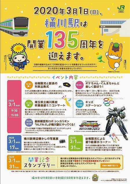 JR東日本「桶川駅開業135周年記念イベント」開催
