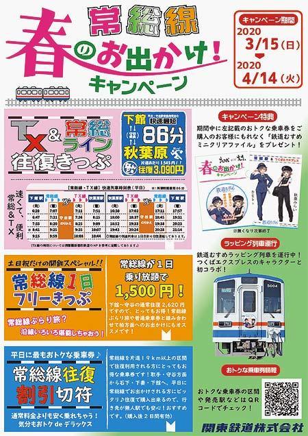 関東鉄道,常総線「春のお出かけ!キャンペーン」実施