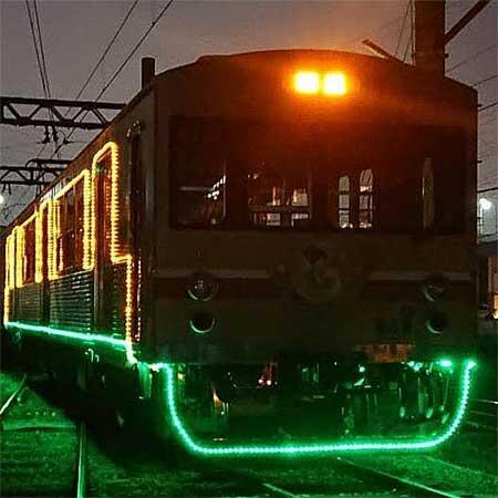 水間鉄道で「イルミネーション電車」運転