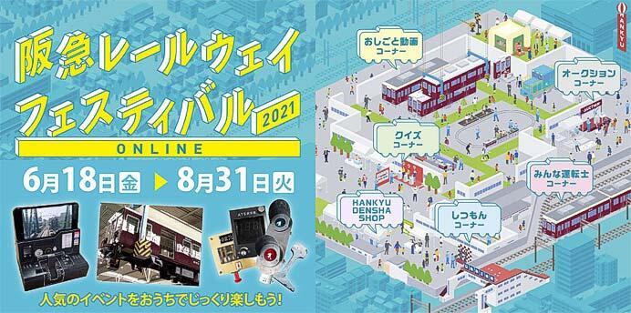 「阪急レールウェイフェスティバル2021 ONLINE」開催