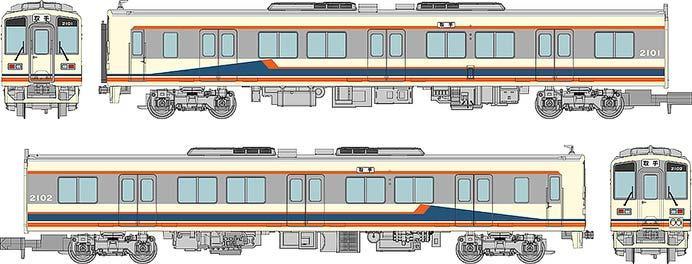 関東鉄道キハ2100形2両セット