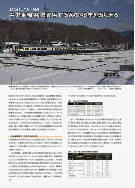 さよなら「山スカ」115系 中央東線 横須賀色115系の48年を振り返る