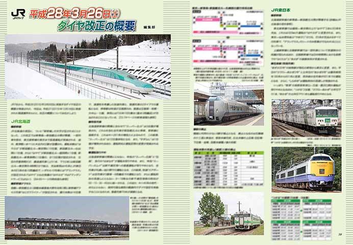 JRグループ 平成28年3月26日(土)ダイヤ改正の概要