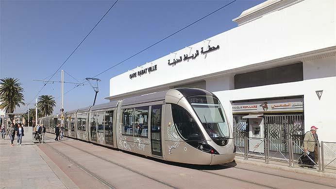 モロッコ ラバトとカサブランカの新形路面電車
