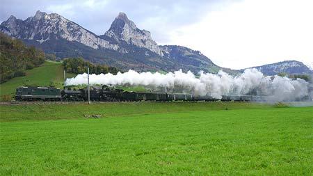 REPORTスイス ゴッタルド旧線を行く蒸機列車