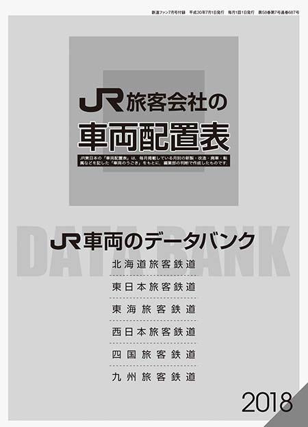 「JR旅客会社の車両配置表/JR車両のデータバンク 2018」