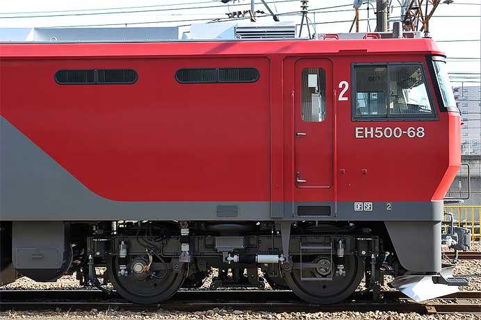 門司機関区と仙台総合鉄道部のEH500