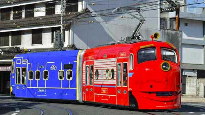 岡山電気軌道9200形1081号車「おかでんチャギントン電車」