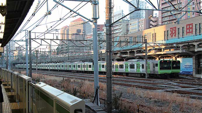 品川駅車両留置線をウォッチ