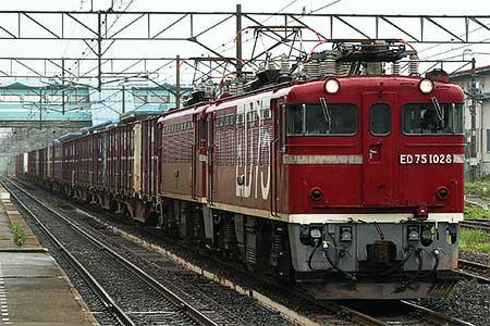 ED75 1028が1550〜1552列車をけん引|鉄道ニュース|2008年6月24日掲載 ...