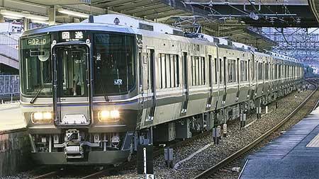223系5500番台,福知山電車区へ回送される