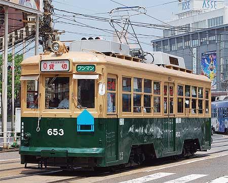 広電653号が2年ぶりの復活