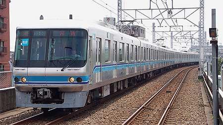 東西線色の07系が千代田線で試運転