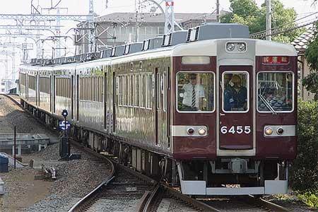 阪急6300系が嵐山線で試運転