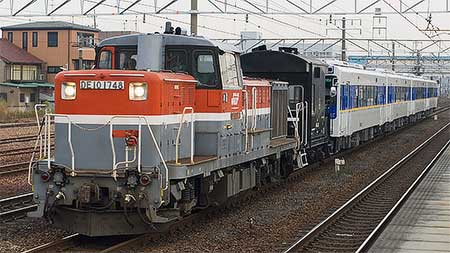 松浦鉄道MR-600形の甲種輸送