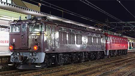 EF64 37,秋田総合車両センターを出場