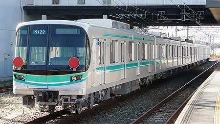東京メトロ 9000系増備車が甲種輸送される