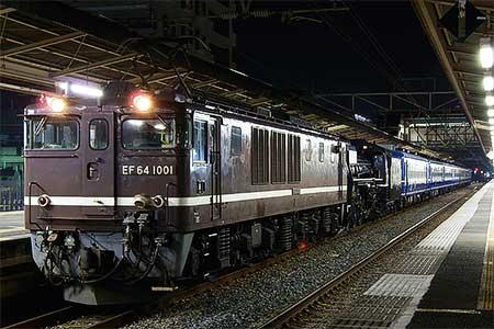 C57 180と12系が木更津へ回送される