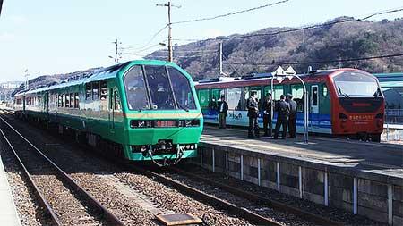 「き·ら·き·ら みちのく」釜石線で運転