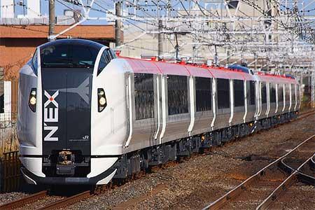"""""""成田エクスプレス""""用新形車両,E259系が試運転を実施"""