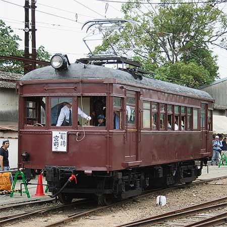 熊本電鉄 モハ71が構内走行