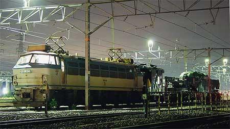 シキ800Cによる特大貨物輸送運転