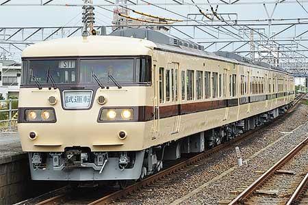117系S11編成が登場当時の塗装となり出場