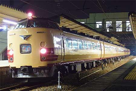 485系もとA07編成,183系となり福知山へ