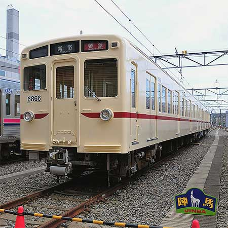 京王線6000系6416編成,旧塗装に