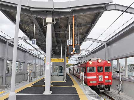 名鉄三河線三河八橋駅が高架化される