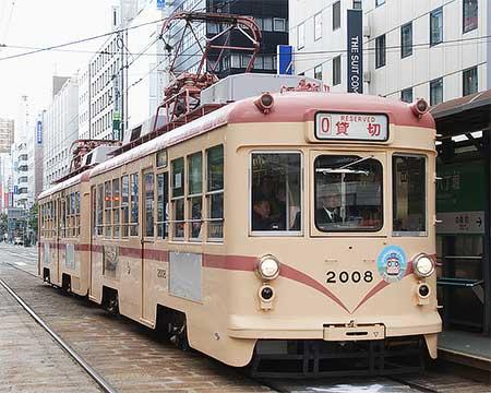 広電2000形,貸切電車として走る