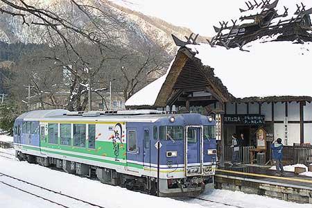 会津鉄道AT401「風覧望」が単行で運転される