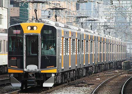 阪神1000系増結編成が阪神なんば線快速急行運用を代走