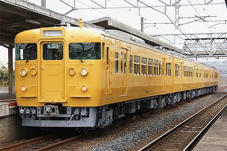 115系セキN-05編成が黄色となって出場