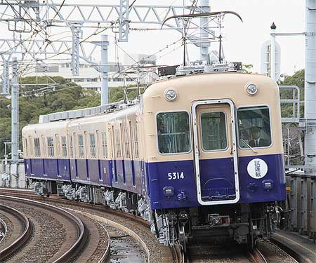 阪神5311形が5314編成が検査を終え試運転