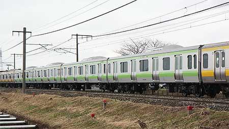 サハE231-600+サハE231-4600が試運転