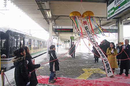 会津鉄道 AT-351が営業運転を開始