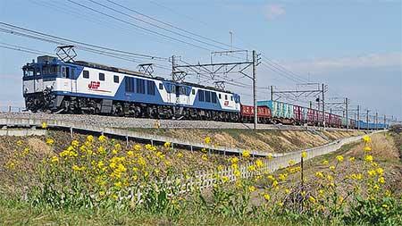 高崎線の紙輸送列車がEF64重連けん引に